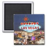 Las Vegas Souvenir Square Magnet