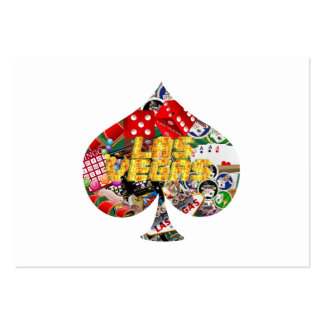 Las Vegas Spade Playing Card Shape Pack Of Chubby Business Cards