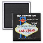 Las Vegas Special Event Memento Square Magnet