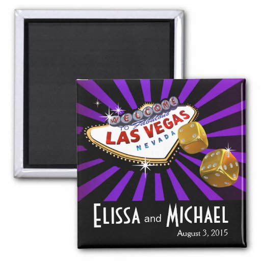 Las Vegas Starburst Wedding Favour Purple Black