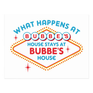 Las Vegas Stays At Bubbe's Postcard