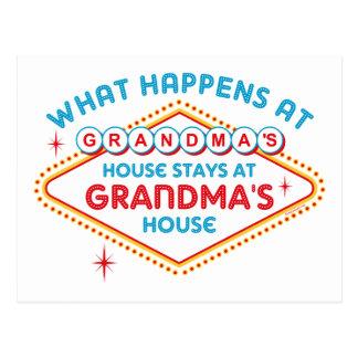 Las Vegas Stays At Grandma s Post Cards