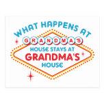Las Vegas Stays At Grandma's Post Card