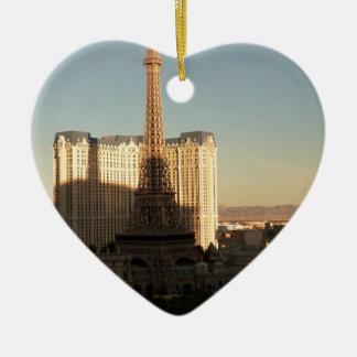 Las Vegas strip 3 Ceramic Heart Decoration