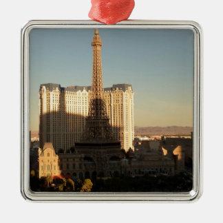 Las Vegas strip 3 Silver-Colored Square Decoration