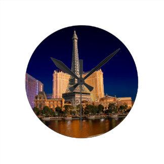 Las Vegas strip 5 Round Clock