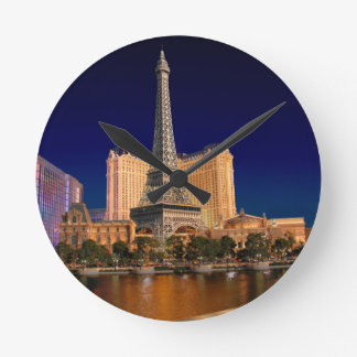 Las Vegas strip 5 Wall Clock