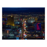 Las Vegas Strip Aerial Photo Poster Print