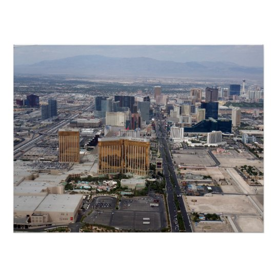 Las Vegas Strip Aerial View 2009 Poster