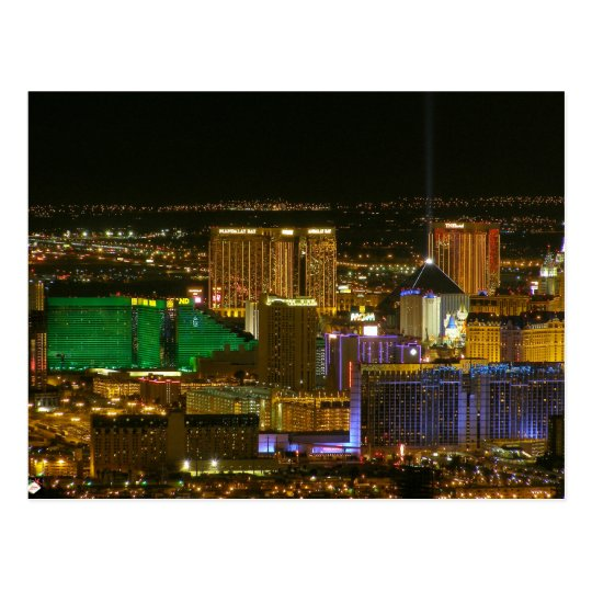 Las Vegas Strip Aerial View Postcards
