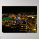 Las Vegas Strip Aerial View Poster
