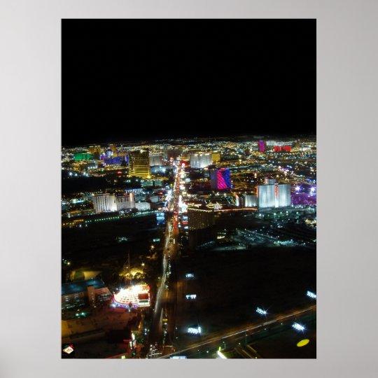 Las Vegas Strip Aerial View Poster Print