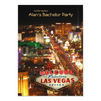 Las Vegas Strip Bachelor Party Invitation #2--5x7