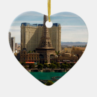 Las Vegas strip Ceramic Heart Decoration