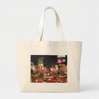 Las Vegas strip Large Tote Bag