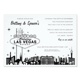 Las Vegas Strip | Las Vegas Wedding Invitation
