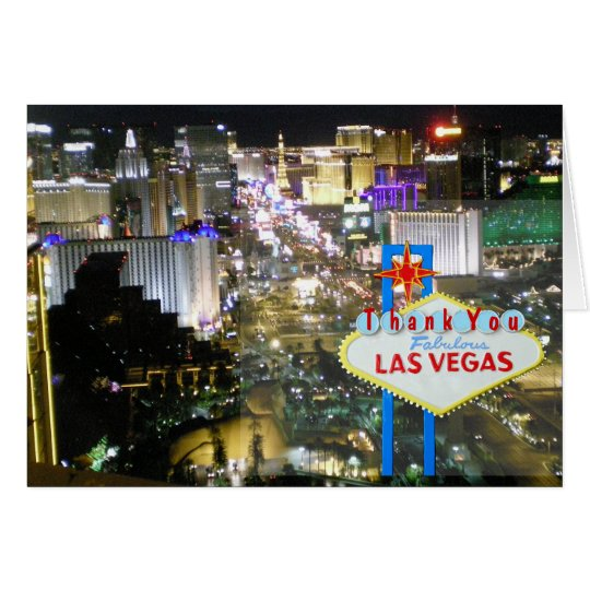 Las Vegas Strip Newlywed Thank You Cards