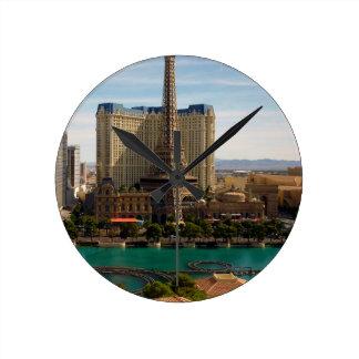 Las Vegas strip Round Clock