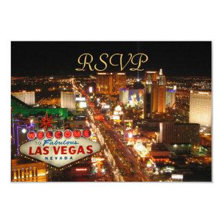 Las Vegas Strip RSVP cards 9 Cm X 13 Cm Invitation Card
