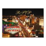 Las Vegas Strip RSVP cards Custom Invite