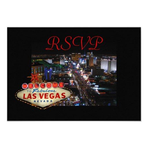 Las Vegas Strip RSVP cards