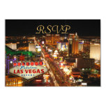 Las Vegas Strip RSVP cards Personalised Invitation