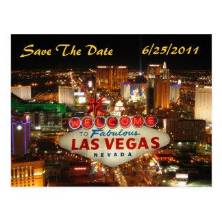 Las Vegas Strip Save The Date Postcard