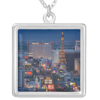 Las Vegas Strip Silver Plated Necklace