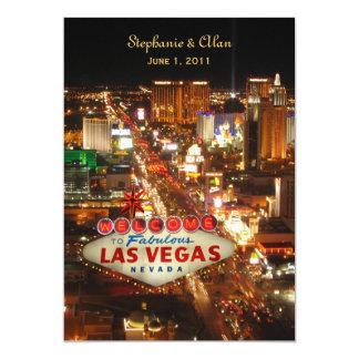 "Las Vegas Strip Wedding Invitation 5"" X 7"" Invitation Card"