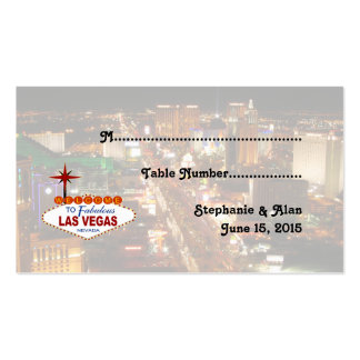 Las Vegas Strip  Wedding Place Cards Pack Of Standard Business Cards