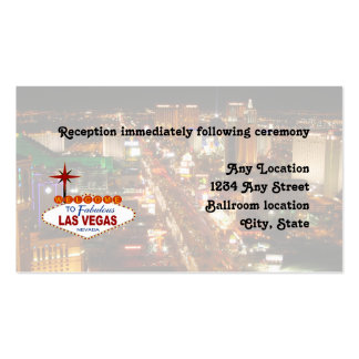 Las Vegas Strip  Wedding Reception Card Pack Of Standard Business Cards
