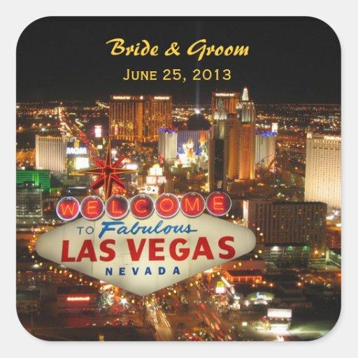Las Vegas Strip Wedding Sticker