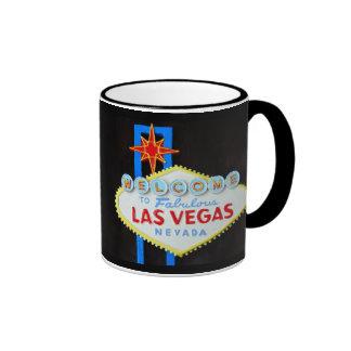 Las Vegas Strip Welcome Sign Souvenir Ringer Mug