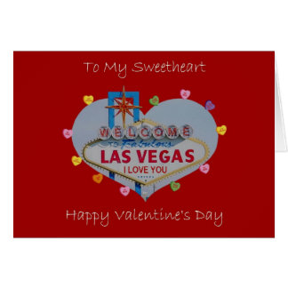 Las Vegas Sweetheart Valentine's Day Card