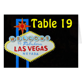 Las Vegas Table Number Assigned Seating tent cards