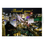 Las Vegas Thank You Aerial  Strip Photograph Note Card
