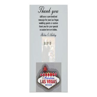 Las Vegas Thank You Photo Cards 10 Cm X 24 Cm Invitation Card