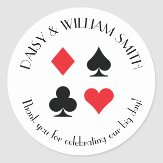 Las Vegas Theme Custom Text Sticker in Red Black