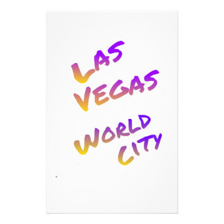Las Vegas USA world City, colorful text art Customised Stationery