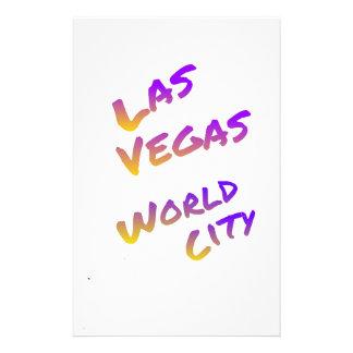 Las Vegas USA world City, colorful text art Stationery