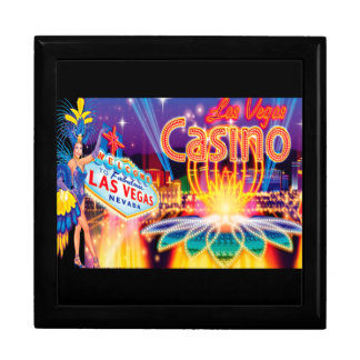 Las Vegas Vacation Large Square Gift Box