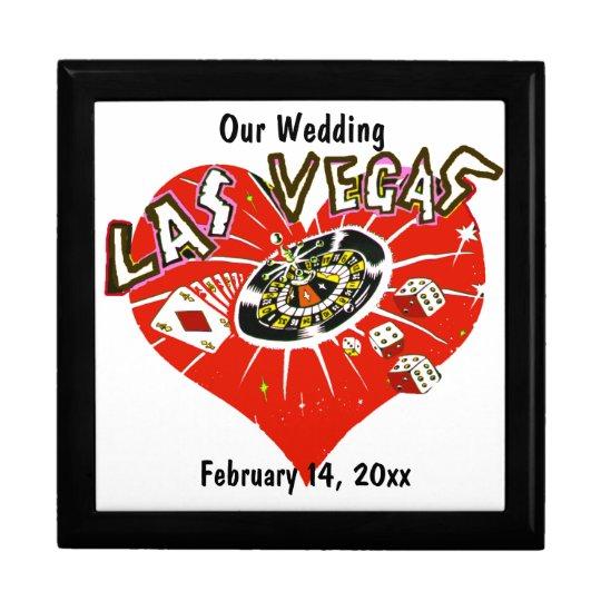 Las Vegas Valentine Wedding Gift Box