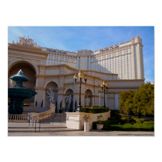 Las Vegas View of Monte Carlo Poster