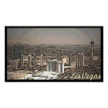Las Vegas vintage scenic city poster