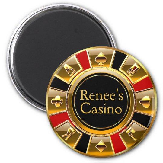 Las Vegas VIP Black Gold Red Casino Chip