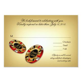Las Vegas VIP RSVP response | red 9 Cm X 13 Cm Invitation Card