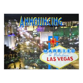 Las Vegas Wedding Announce and Reception Invite