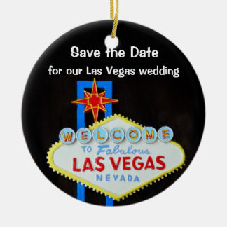Las Vegas Wedding Announcement Christmas Ornament