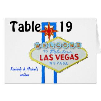 Las Vegas Wedding Assigned Seating Greeting Card