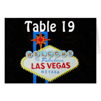 Las Vegas Wedding Assigned Seating Note Card